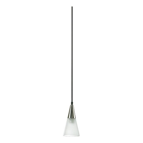Quorum One Light Satin Nickel Down Mini Pendant