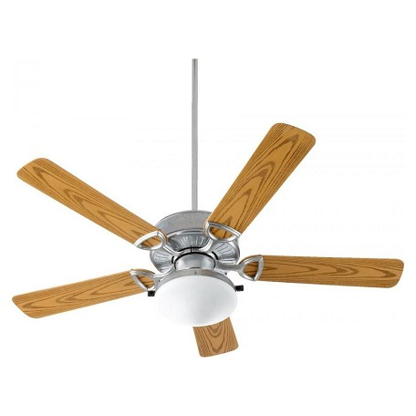 Quorum Two Light Galvanized Outdoor Fan
