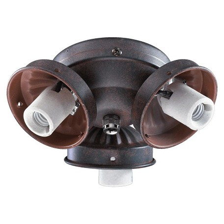 Quorum Three Light Toasted Sienna Fan Light Kit