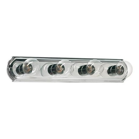 Quorum Vanity Lights : Quorum Four Light Chrome Vanity Chrome 5049-4-14