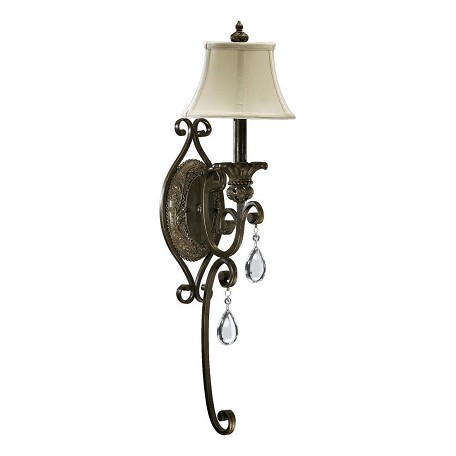 Quorum One Light Classic Bronze Wall Light Classic Bronze 5532-1-54 From Fulton Collection