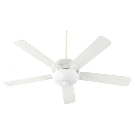 Quorum Two Light Studio White Ceiling Fan