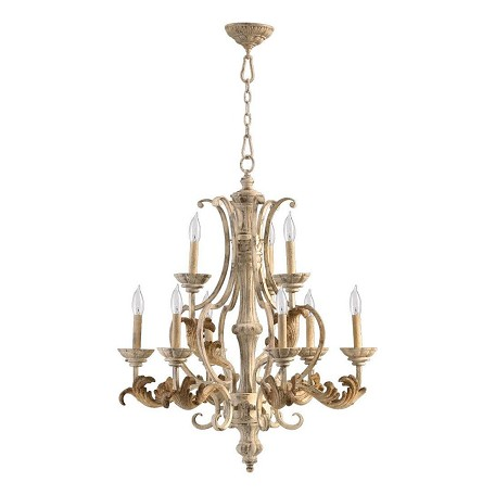 Quorum Nine Light Persian White Up Chandelier