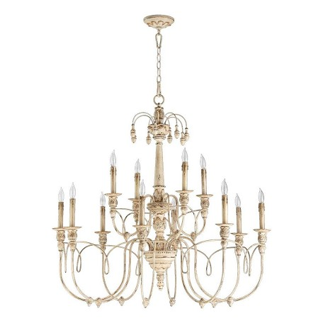 Quorum Twelve Light Persian White Up Chandelier
