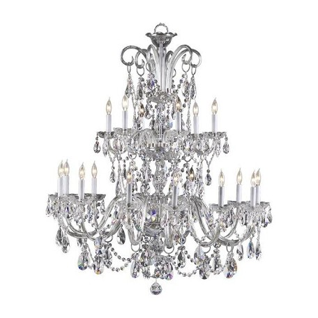 Quorum Eighteen Light Chrome Imperial Crystal Glass Up Chandelier