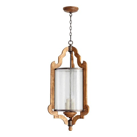 Quorum Four Light Provincial W/ Rustic Iron Accents Foyer Hall Pendant