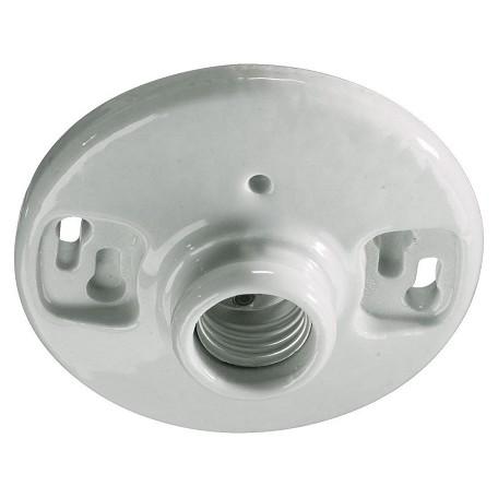 Quorum One Light White Keyless Porcelain Fixture White 7 222