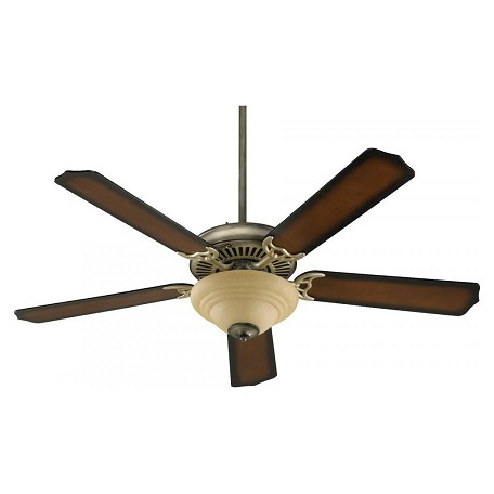 Quorum Two Light Antique Flemish Fan Motor Without Blades
