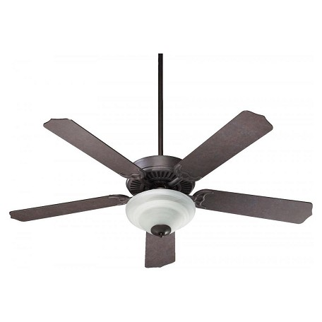 Quorum Two Light Toasted Sienna Ceiling Fan