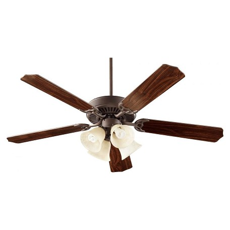 Quorum Four Light Oiled Bronze Ceiling Fan