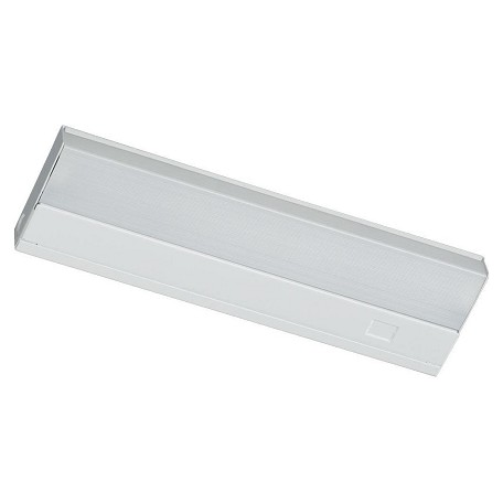 Quorum One Light White Matte White Glass Fluorescent Undercabinet Light