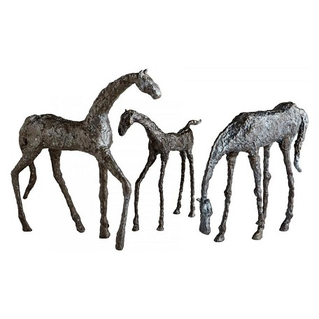 Cyan Designs Bronze 15.5in. Grazing Horse Sculpture