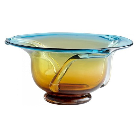 Cyan Designs Cyan Blue and Orange 6in. Large Cyan Blue And Orange Bowl