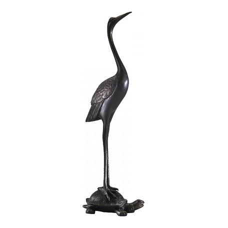 Cyan Designs Old World 26.25in. Crane And Turtle Door Stop