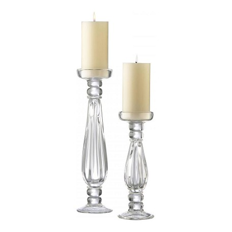 Cyan Designs Clear 16in. Large Clear Glass Candleholder