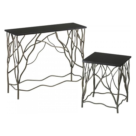 Cyan Designs Silver and Black 31.5in. Appalachian Console Table