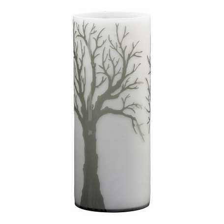 Cyan Designs Acid White and Smoke 19.75in. Large Oak Alley Vase