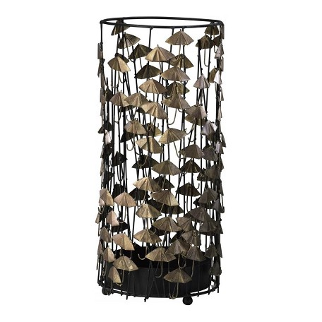 Cyan Designs Black and Gold 21in. Umbrella Stand