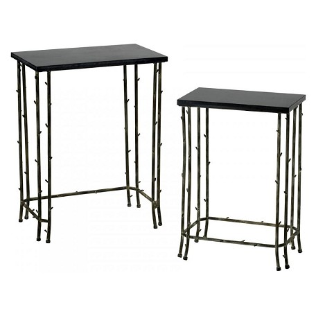 Cyan Designs Distressed Bamboo 24.25in. Bamboo Nesting Tables