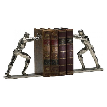 Cyan Designs Silver 8.25in. Iron Man Bookends