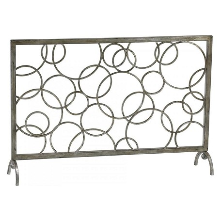 Cyan Designs Silver Leaf 28in. Circle Fire Screen