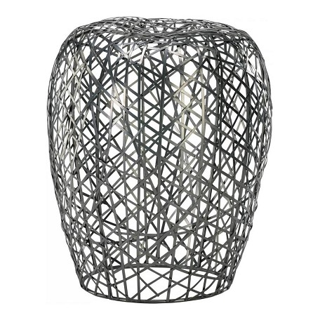 Cyan Designs Silver 18.5in. Open Grid Stool