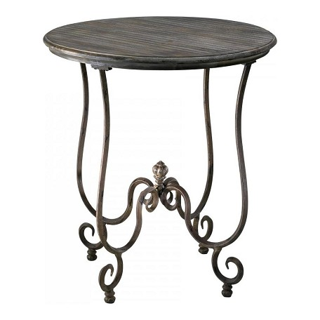 Cyan Designs Distressed Gray and Golden Antiqua 31in. Humphrey Side Table