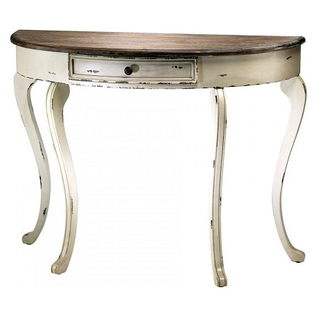 Cyan Designs Distressed White and Gray 32.5in. Abelard Console Table