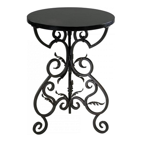 Cyan Designs Black and Gold 27.25in. Briony Side Table