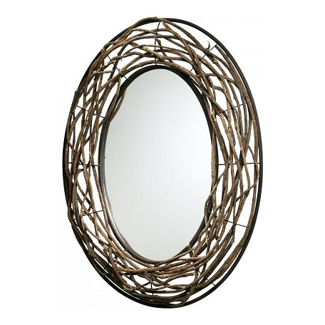 Cyan Designs Birchwood And Bronze 35In. Rustico Twist Mirror