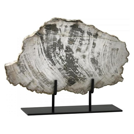 Cyan Designs Oak 12.25in. Large Petrified Wood On Stand