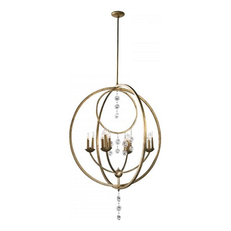 Cyan Designs Silver Leaf 47in. Emilia Sixteen Light Chandelier from the Emilia Collection