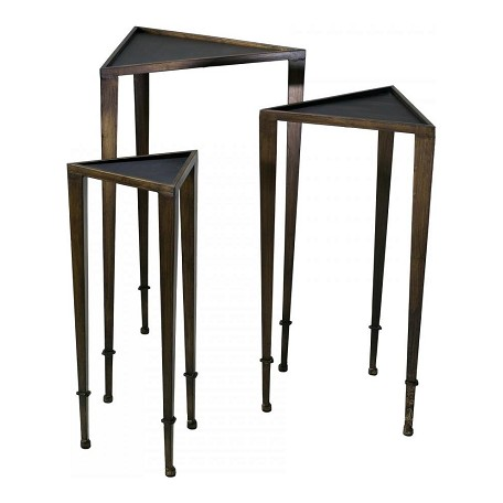 Cyan Designs Ebony and Mahogany 29.75in. Triangle Nesting Tables