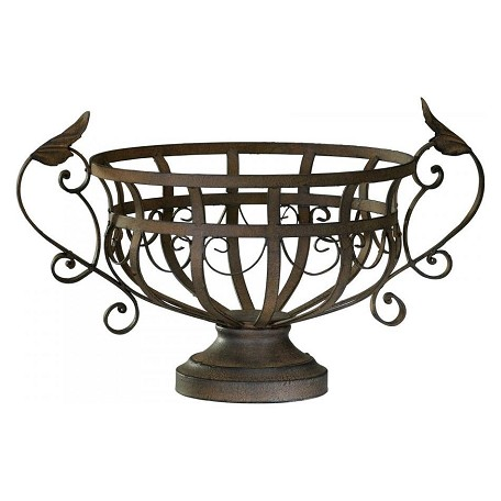 Cyan Designs Aged Rust 10in. Iron Fruit Basket