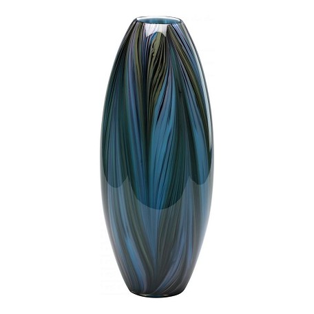 Cyan Designs Multi Colored Blue 20in. Peacock Feather Vase