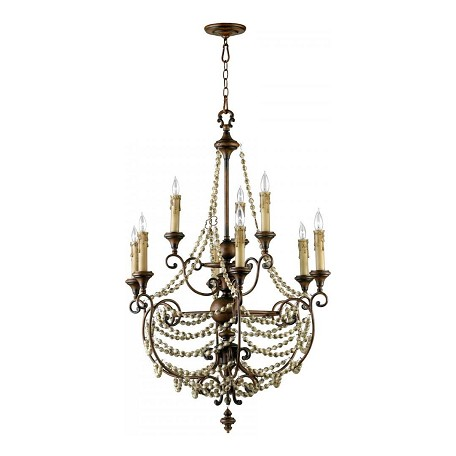 Cyan Designs Antiqued Sienna 45in. Meriel Nine Light Chandelier from the Lighting Collection