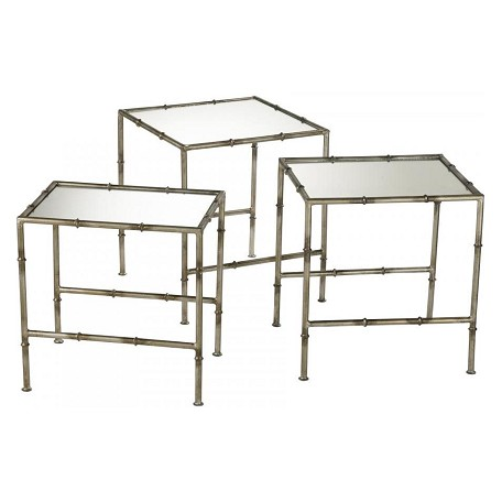 Cyan Designs Antique Bronze 20in. Bamboo Nesting Tables