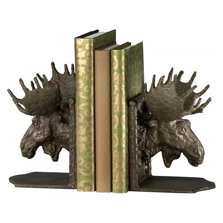 Cyan Designs 7.45in. Moosehead Bookends
