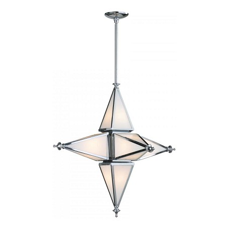 Cyan Designs Chrome 30.5in. Small Six Light Star Pendant