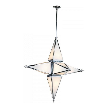 Cyan Designs Chrome 40.5in. Large Six Light Star Pendant from the Star Collection