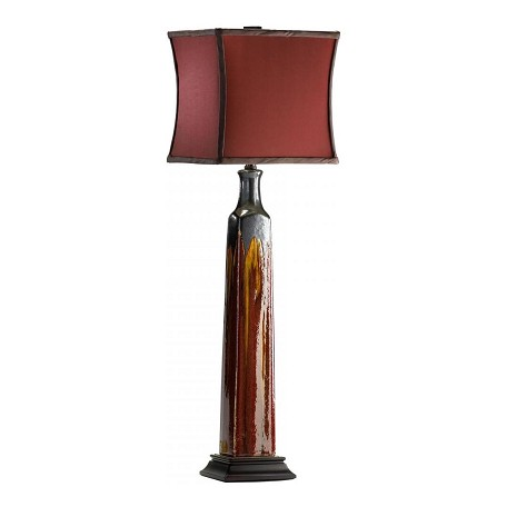 Cyan Designs Burgundy 30.75in. Golden Buffet Lamp from the Lighting Collection