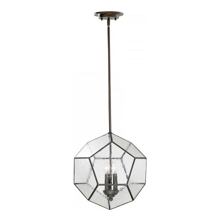 Cyan Designs Oiled Bronze 3 Light Down Lighting Pendant from the Pentagon Collection
