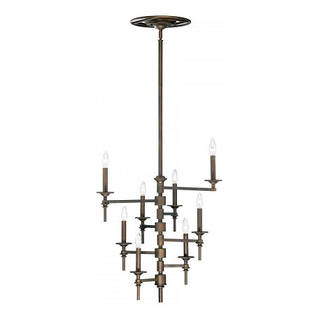Cyan Designs Oiled Bronze 8 Light Up Lighting Chandelier from the Omega Collection