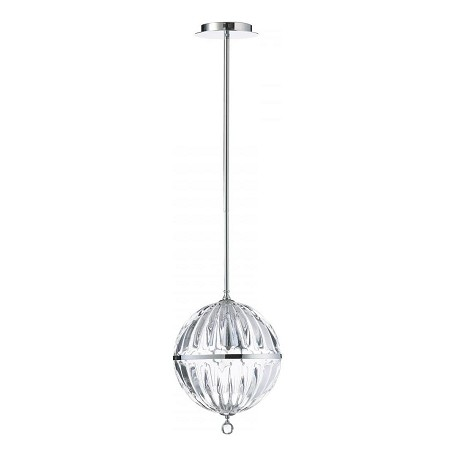 Cyan Designs Chrome 1 Light Small Globe Pendant from the Janus Collection
