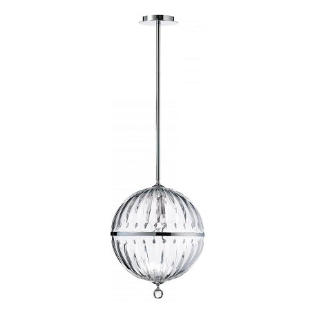 Cyan Designs Chrome 1 Light Large Globe Pendant from the Janus Collection