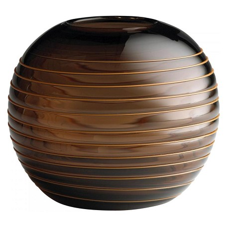 Cyan Designs Brown 6in. Medium Round Vesper Vase