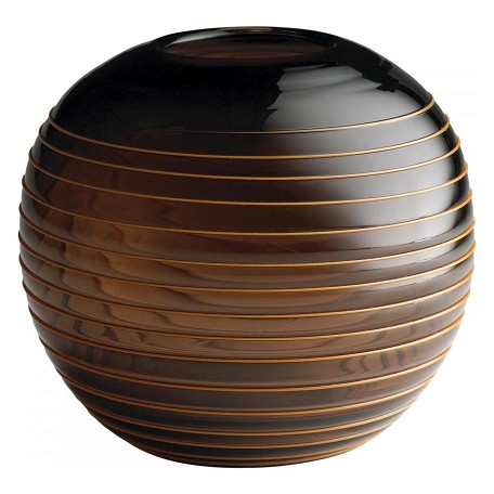 Cyan Designs Brown 7in. Large Round Vesper Vase