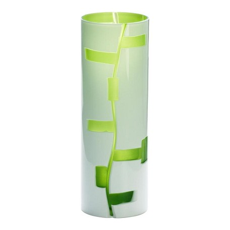 Cyan Designs White / Green 12in. Small Danish Vase