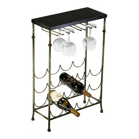 Cyan Designs Antique Flemish and Black Urban Wine Table