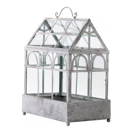 Cyan Designs Antique White 21in. Terrarium Accent Piece